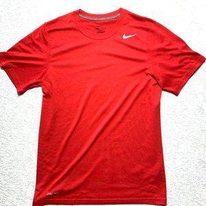Nike Youth Boy's Red Short Sleeve Legend Shirt